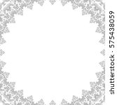 classic square frame with... | Shutterstock . vector #575438059