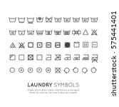garment care symbols set. the... | Shutterstock .eps vector #575441401