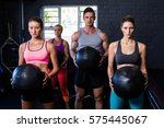 portrait of determined athletes ... | Shutterstock . vector #575445067