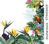 fantastic tropical forest with... | Shutterstock . vector #575453419