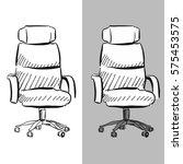 office chair chair vector...   Shutterstock .eps vector #575453575