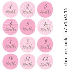round labels for children from... | Shutterstock .eps vector #575456515