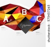colorful triangle mosaic 3d... | Shutterstock .eps vector #575457265