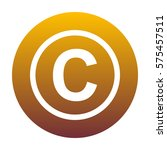 copyright sign illustration.... | Shutterstock .eps vector #575457511
