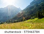 the north face of eiger with... | Shutterstock . vector #575463784