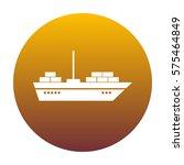 ship sign illustration. white... | Shutterstock .eps vector #575464849