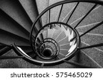 looking down narrow spiral... | Shutterstock . vector #575465029