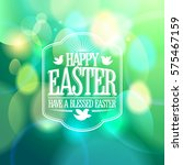 easter calligraphic design on a ... | Shutterstock . vector #575467159