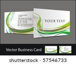 vector business card set  ... | Shutterstock .eps vector #57546733