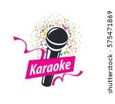 vector logo karaoke | Shutterstock .eps vector #575471869