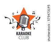 vector logo karaoke | Shutterstock .eps vector #575473195