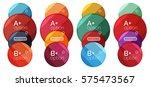 set of round option diagram... | Shutterstock .eps vector #575473567