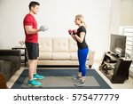 full length portrait of a young ...   Shutterstock . vector #575477779