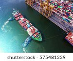 container container ship in... | Shutterstock . vector #575481229
