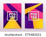 abstract flayer cover poster... | Shutterstock .eps vector #575482021