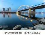 apollo bridge over river danube ... | Shutterstock . vector #575482669