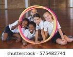 portrait of school kids looking ... | Shutterstock . vector #575482741