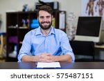 portrait of physiotherapist... | Shutterstock . vector #575487151