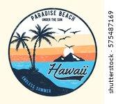 hawaii vector illustration for... | Shutterstock .eps vector #575487169