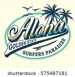 aloha vector illustration for t ... | Shutterstock .eps vector #575487181