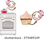 cartoon smiling cook. vector   Shutterstock .eps vector #575489149
