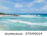 beautiful ocean  the caribbean... | Shutterstock . vector #575490019