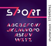 sans serif font in sport style   Shutterstock .eps vector #575490961
