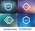 vector abstract logo design... | Shutterstock .eps vector #575492929