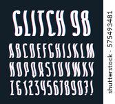 sanserif font with glitch wavy... | Shutterstock .eps vector #575493481
