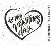 happy valentine's day lettering.... | Shutterstock .eps vector #575501467