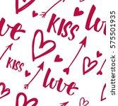valentine's day vector seamless ... | Shutterstock .eps vector #575501935