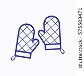 oven mitt icon. flat isolated.... | Shutterstock .eps vector #575503471