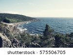 the baltic sea shore in summer  ... | Shutterstock . vector #575506705