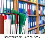 office document folders... | Shutterstock . vector #575507257