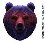 Realistic Portrait Of Bear...