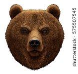 3d  Realistic Portrait Of Bear...