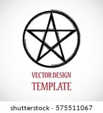 pagan symbol in grunge  old... | Shutterstock .eps vector #575511067