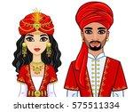 portrait of an animation arab...   Shutterstock .eps vector #575511334