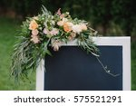 chulk board  which stands on...   Shutterstock . vector #575521291