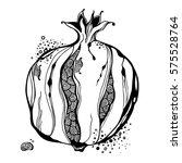stylized garnet or pomegranate. ... | Shutterstock .eps vector #575528764