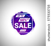 sale up to 60  off banner sign... | Shutterstock .eps vector #575533735