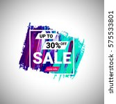 sale up to 30  off banner sign... | Shutterstock .eps vector #575533801