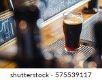nonic pint glass with dark... | Shutterstock . vector #575539117