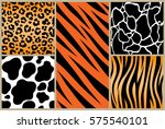 set safari jungle animal fur... | Shutterstock .eps vector #575540101