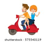 cute isolated romantic couple... | Shutterstock .eps vector #575540119