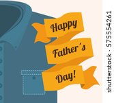 happy father day card icon... | Shutterstock .eps vector #575554261