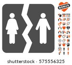 divorce icon with bonus... | Shutterstock .eps vector #575556325