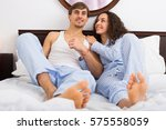 young adults posing in family... | Shutterstock . vector #575558059