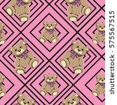 bear seamless pattern vector on ...   Shutterstock .eps vector #575567515