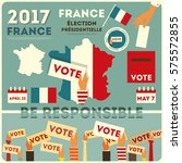 france presidential election... | Shutterstock .eps vector #575572855